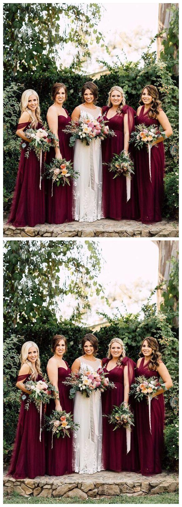 Burgundy Convertible Bridesmaid Dresses Tulle Purple Mismatched Bridesmaid Dresses Ard1166 Maroon Bridesmaid Dresses Burgundy Bridesmaid Dresses Marron Bridesmaid Dresses [ 1628 x 584 Pixel ]