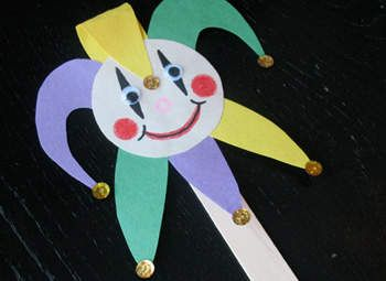 Jester on a Stick Craft: Mardi Gras Crafts for Kids - Kaboose.com