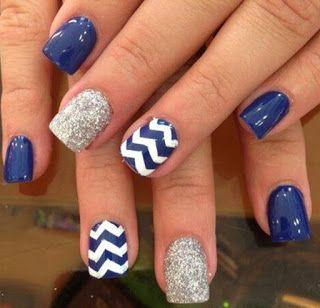 Las 25 mejores ideas sobre u as azul marino en pinterest y - Colores que pegan con el azul ...