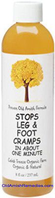 STOP LEG AND FOOT CRAMPS PAIN NATURALLY NEW FACTORY SEALED BOTTLE AMISH REMEDIES