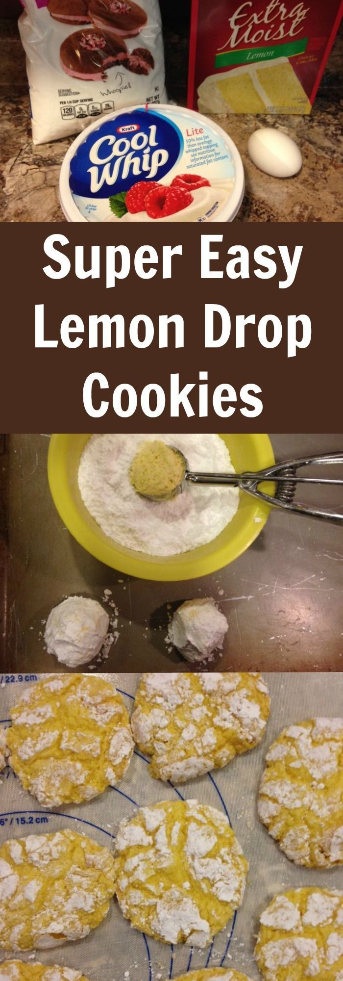 Super Easy Lemon Drop Cookie Recipe - I love these cookies!!