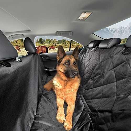 Dog Seat Covers for Cars SUVs & Trucks-Designed To Protect Your Backseat From Dirt And Hair-Dog Car Seat Covers-Hammock Convertible-Waterproof-NonSlip-Anti Scratch-Black-Bonus 2 Pet Safety Seat Belts