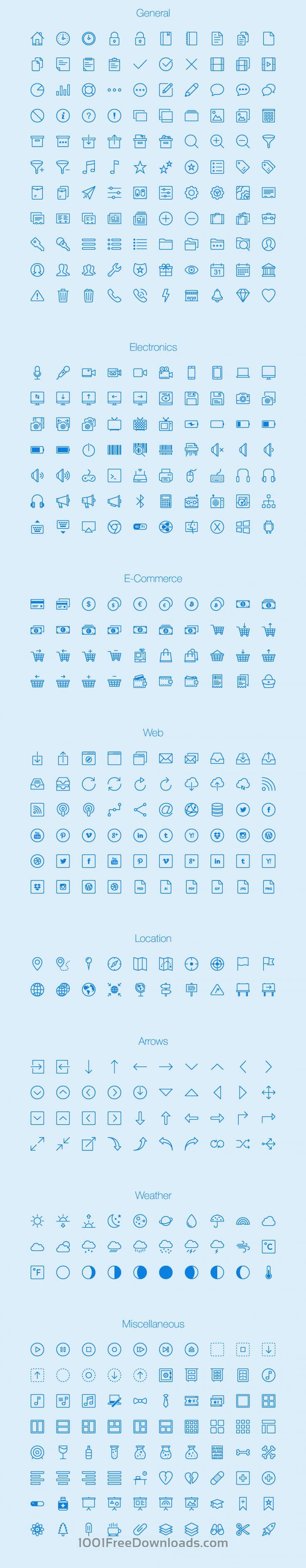 Free Vectors: Lynny Icons - Full | Ai, Eps, Png | (2.9 MB) | 1001freedownloads.com