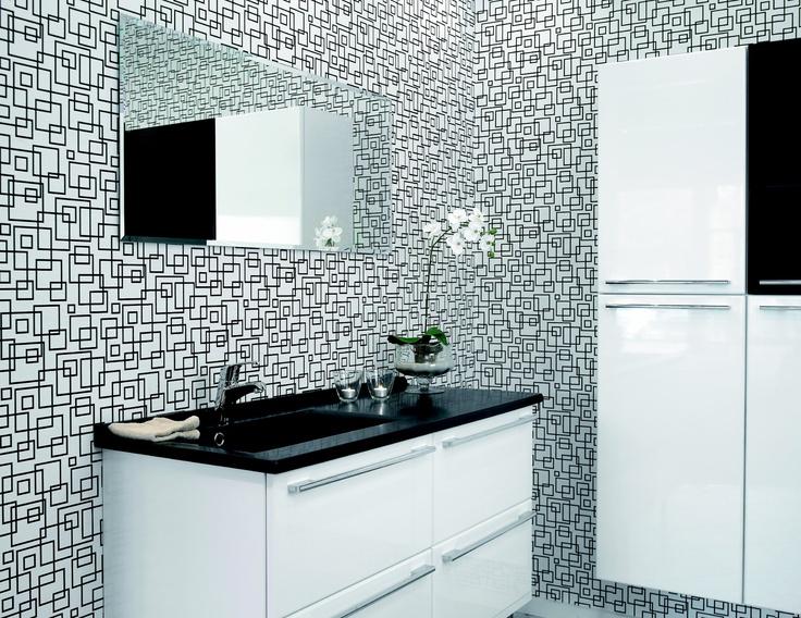 17 beste idee n over zwart wit badkamers op pinterest badkamer victoriaanse badkamer en douches - Badkamer zwart en hout ...