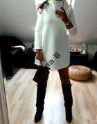 zjawiskowa biala sukienka biel trapezowa   Cena: 99,00 zł  #nowasukienka #suknie #taniasukienka