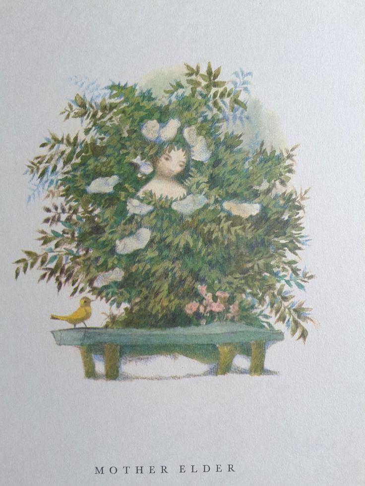 "Vintage Jiri Trnka Mother Elder Nursery Children's Print Wall Art Andersen Fairy Tales  8"" x 11"" by ClaritaVintage on Etsy"