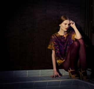 "Silk shirt in Ivana Helsinki ""Kauniainen"" print"