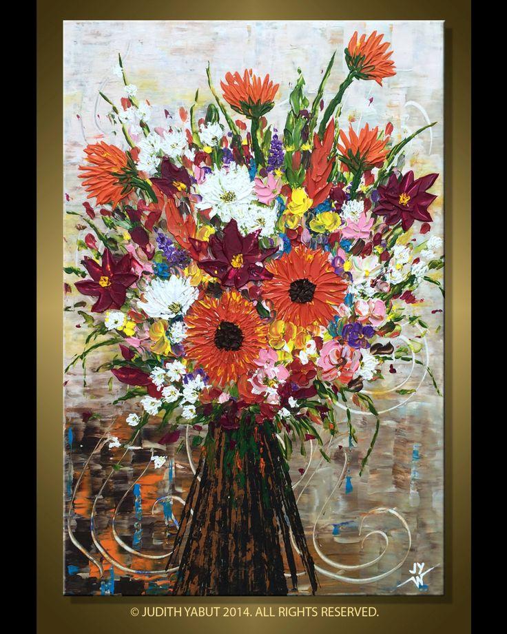 Original Floral Boquet Spring in Summer Impasto by studiox26, $310.00