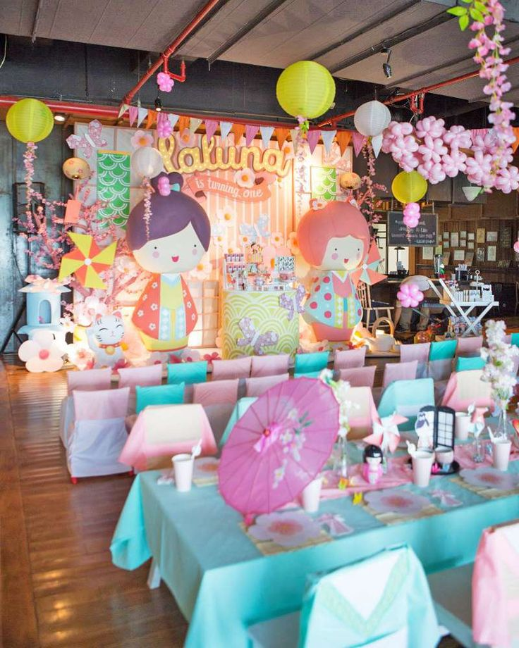 Check out this amazing  Japanese birthday party! See more party ideas at CatchMyParty.com!