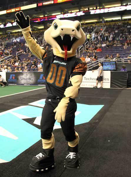 Stryker, Arizona Rattlers mascot.   AFL Mascots   Arena ...