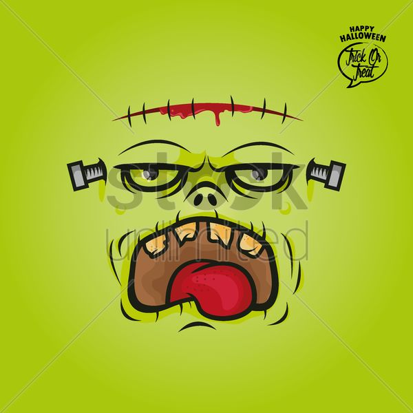 frankenstein card Stock Vector