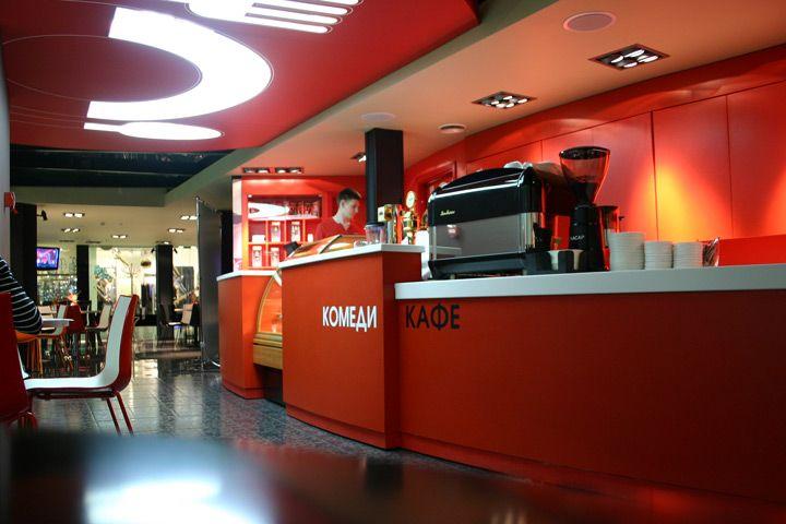 Comedy Cafe exterior and interior design