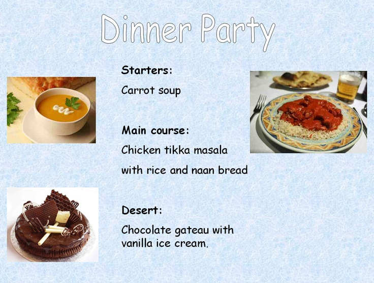 Three examples of different menus which we discussed as a class ( where we would find each one, what information is needed on each one) before pupils created their own for the Asdan challenge (Module 4).