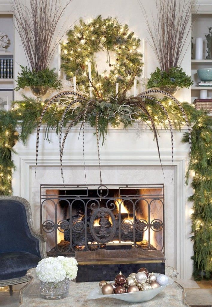 How to Decorate a Fireplace Mantle  Fireplace  Christmas
