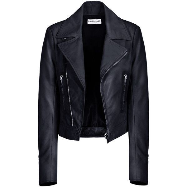 Balenciaga Biker Jacket ($2,745) ❤ liked on Polyvore featuring outerwear, jackets, leather jackets, coats, tops, belted jacket, motorcycle jacket, balenciaga, belted leather jacket and blue jackets