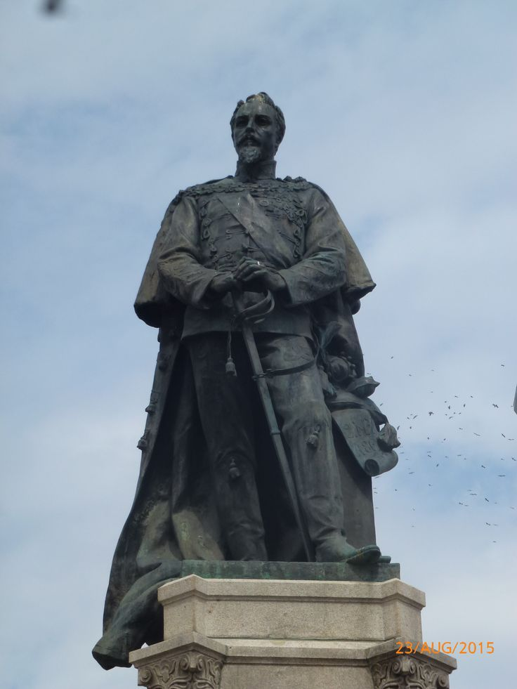 Statue to Carol I, ruler and king of Romania, 1866 - 1914, central Iasi, Romania, 2015