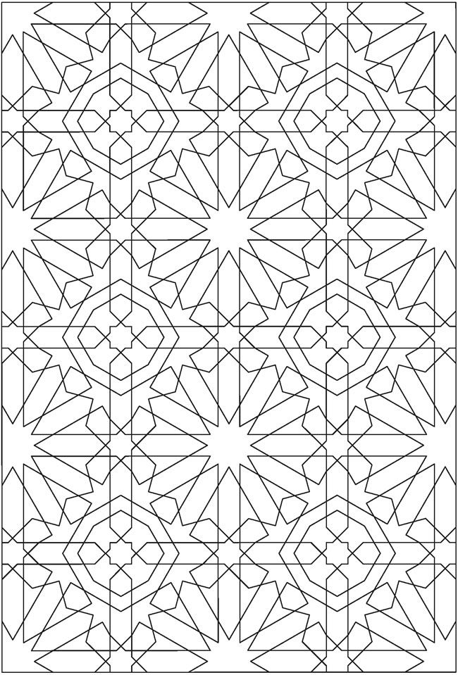 Free Sample Coloring Page From Creative Haven Alhambra Designs Book