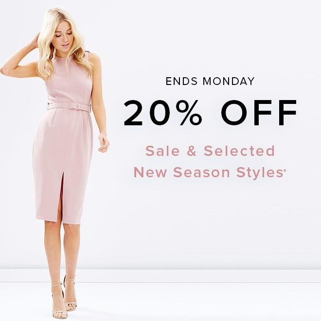 #TheIconic Monday Deal Get 20% Off on selected new season styles