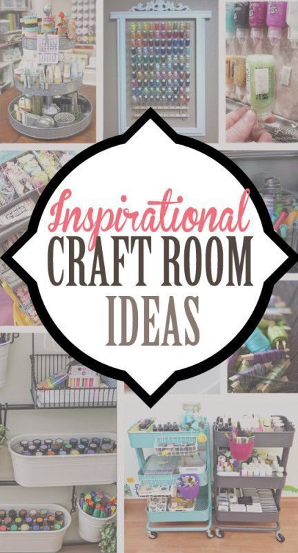 Inspirational Craft Room Ideas for decorating and craft supply organization…