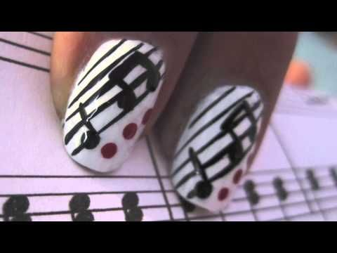 How to Paint Musical Notes for Finger Nails!