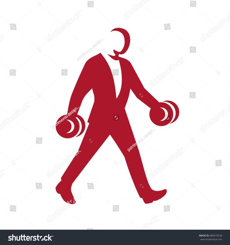 Illustration of a businessman Man in Suit Walking With Dumbbell side view in Silhouette retro style.  #businessman #silhouette #illustration