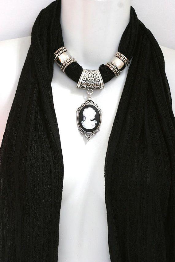 Cameo Scarf Jewelry