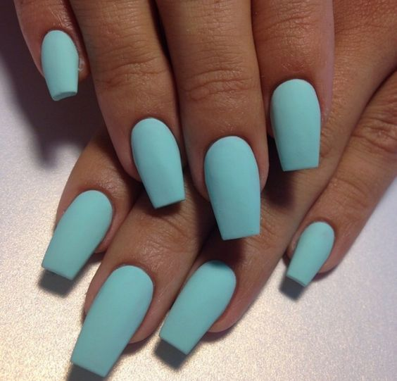 Hot: Aqua Blue Nail Color | Blue Nail Polish | Pinterest ...