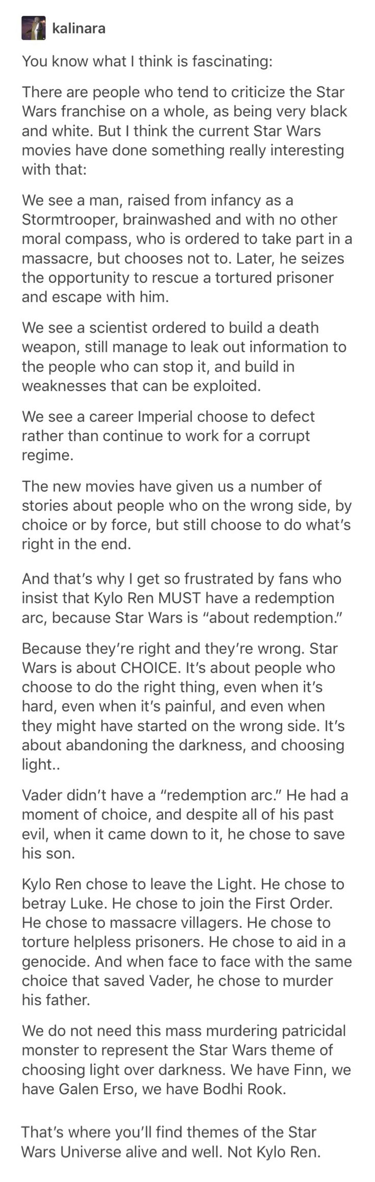 Kyle ren is a little bitch and I don't think he needs a redemption arc, but I'm still soft for reylo