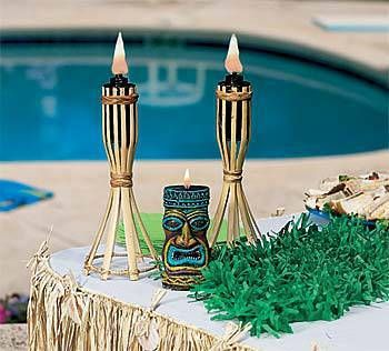 Our tabletop Tiki Lights will give your table a tropical feel. Each 13 inch high tiki light is made from bamboo and is for outdoor use only.