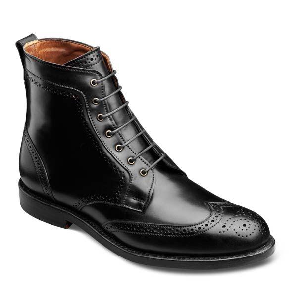 Allen Edmonds Dalton Wingtip Dress Boots 0112 Bourbon Calf