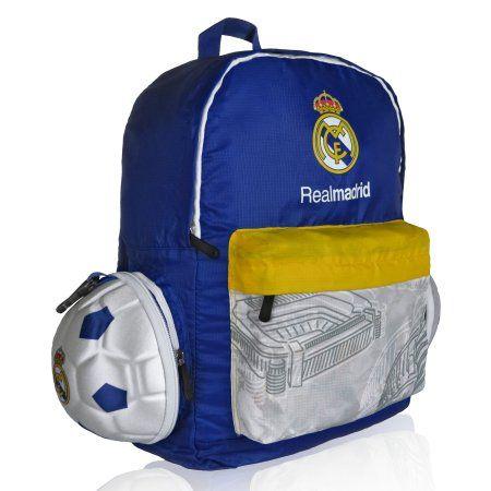 Real Madrid Soccer Ball Backpack, Blue