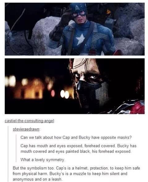 Deep subliminal messages between Captain America and The Winter Soldier