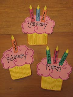 Didi @ Relief Society: Birthday Cupcake Calendar/Board idea - Cute for Missionaries, Young Women, Primary, Relief Society and for all classroom!