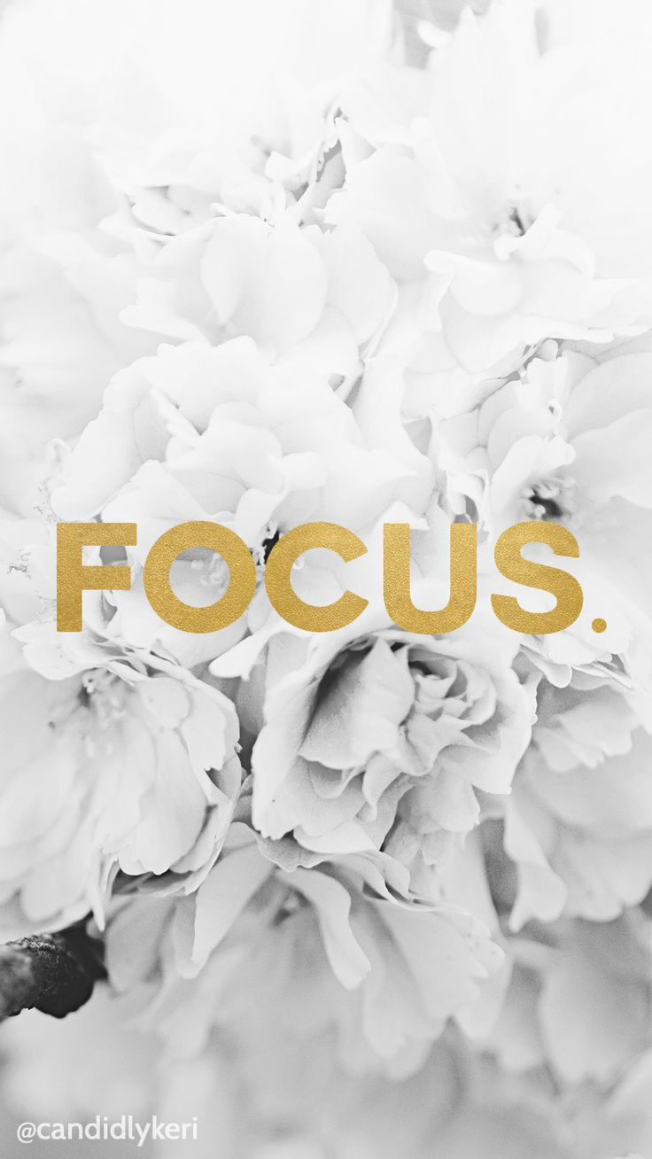 Focus gold foil wallpaper with black and white flowers free download for iPhone android or desktop background on the blog!
