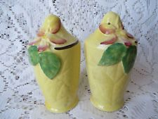 CARLTON WARE YELLOW APPLE BLOSSOM SALT AND PEPPER SHAKERS