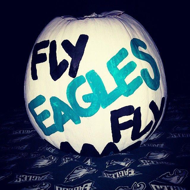 Pumpkin painting perfection  When your pumpkin makes the Official Philadelphia Eagles Pinterest <3
