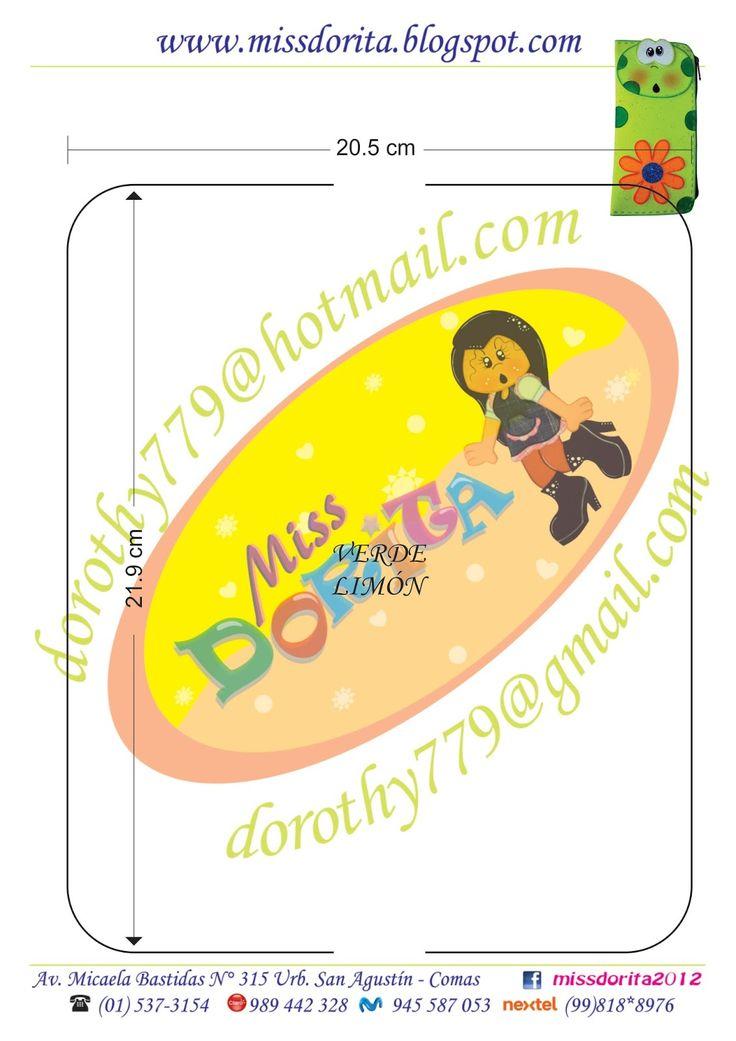 Miss Dorita: Cartuchera Sapito