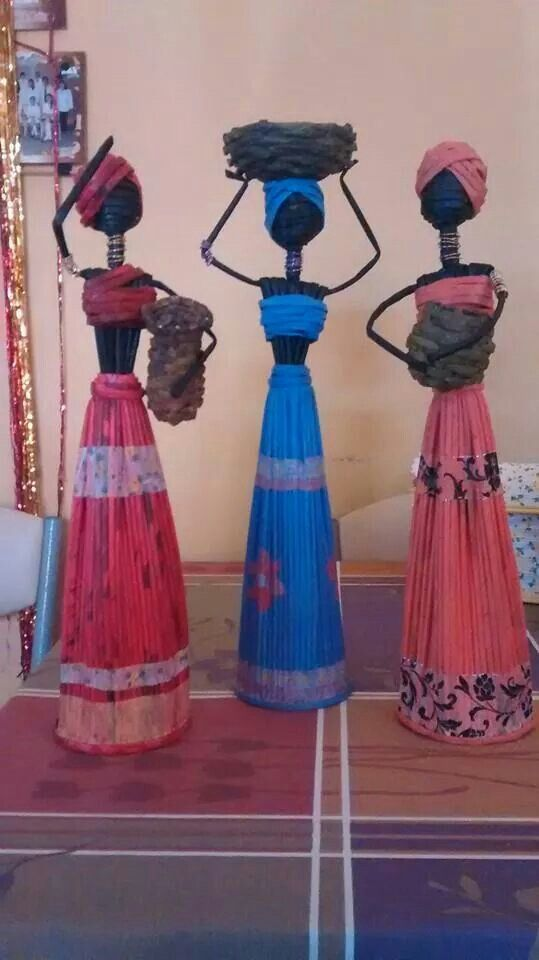 Africke ženy Tuchas al mercado