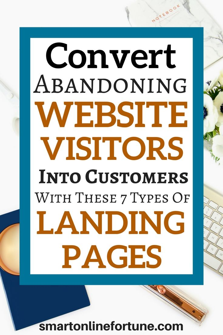 Are you having a difficult time converting abandoning website visitors into customers? If so, you need to start building these 7 types of landing pages on your website. Convert your homepage into a landing page. Grow your email list with opt-in landing pages and webinar landing pages. Get more leads, more sales, and more clients with sales landing pages, tripwire landing pages, thank you landing pages, and live webinar landing pages. #landingpages #listbuilding