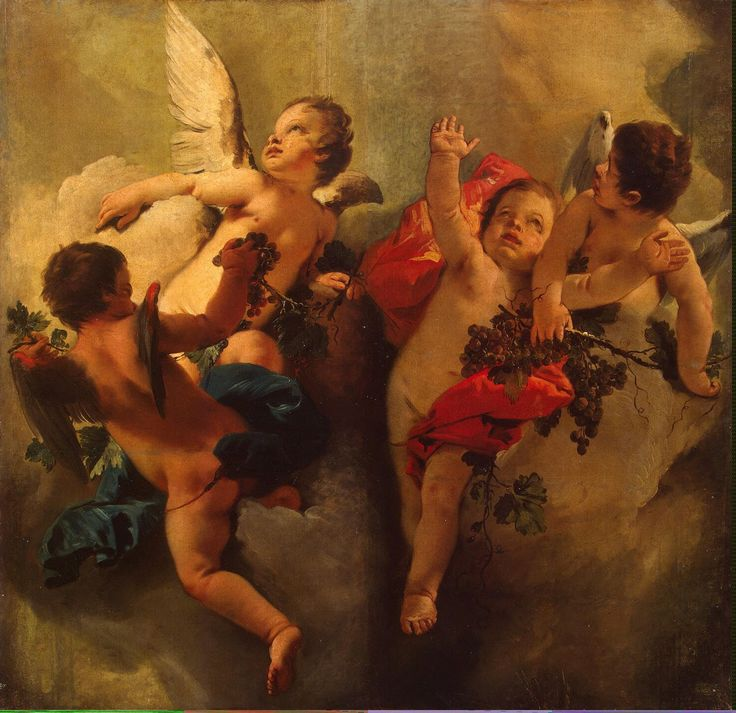 Cupids with Grapes (Allegory of Autumn) de Tiepolo Giovanni Battista
