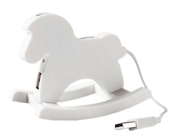 Creative White Cute USB HUB High-Speed USB 2.0 4-Port USB Hub with 10cm cable