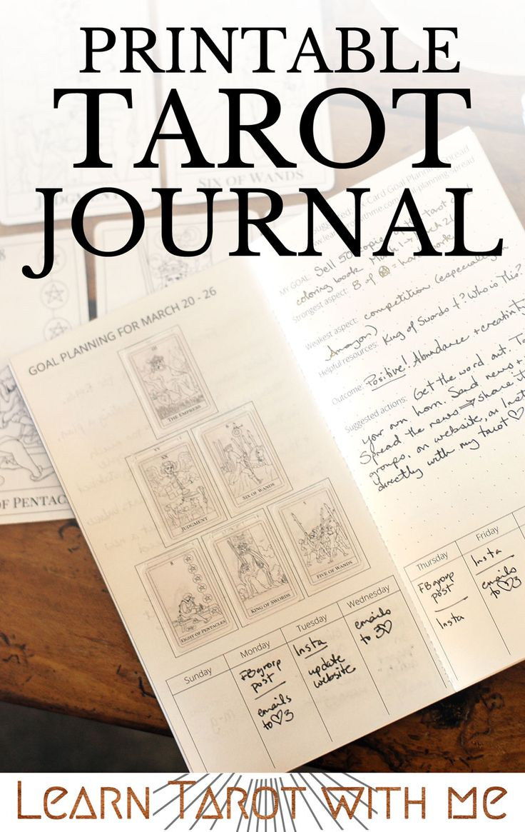 I use my tarot journal every morning to plan my day ahead. How do you use your tarot journal? (You can get a PDF printable to make your own tarot journal as a Midori or fauxdori-sized insert in the Learn Tarot With Me shop).