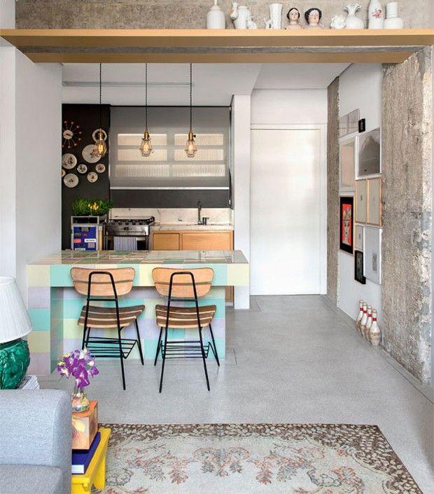 Décor do dia: cozinha com ilha em tons pastel - Casa Vogue   Décor do dia
