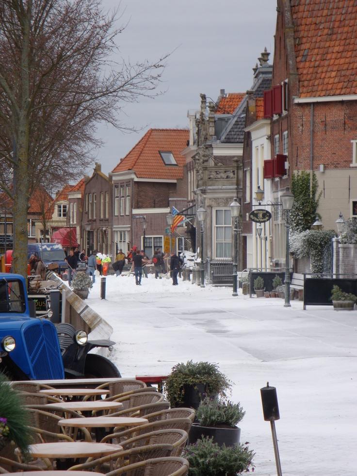 Sneeuw in Enkhuizen