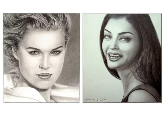 portrat drawings - pencil