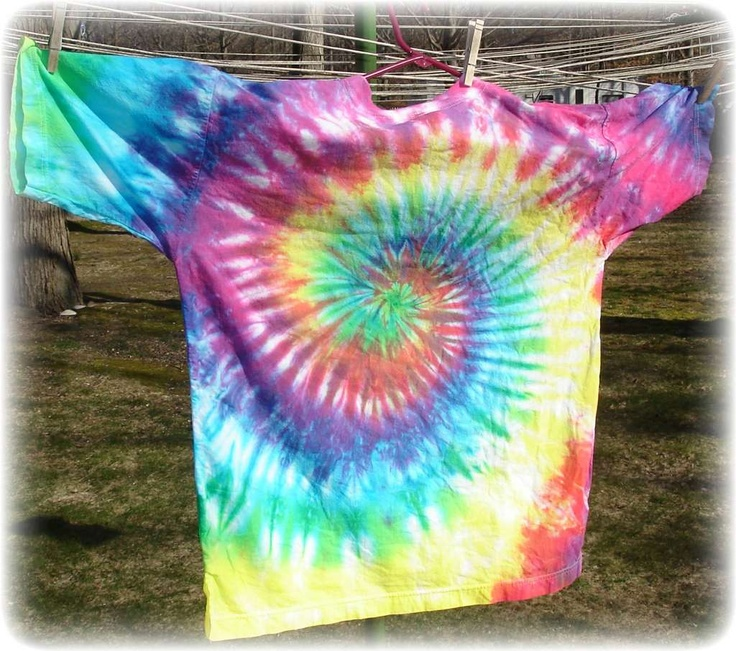 How to tie dye an old white shirt swirls tie dye and ties for Making a tie dye shirt