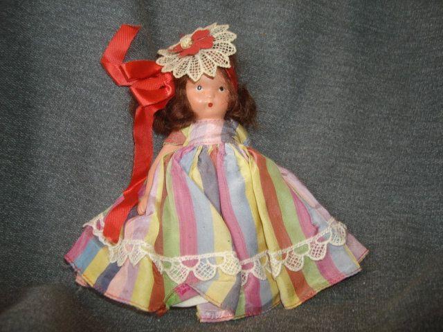 "NASB NANCY ANN Storybook Doll #22 Alice Sweet Alice ~ 5-1/2"" Bisque Doll Stiff Legs by PastPossessionsOnly on Etsy"