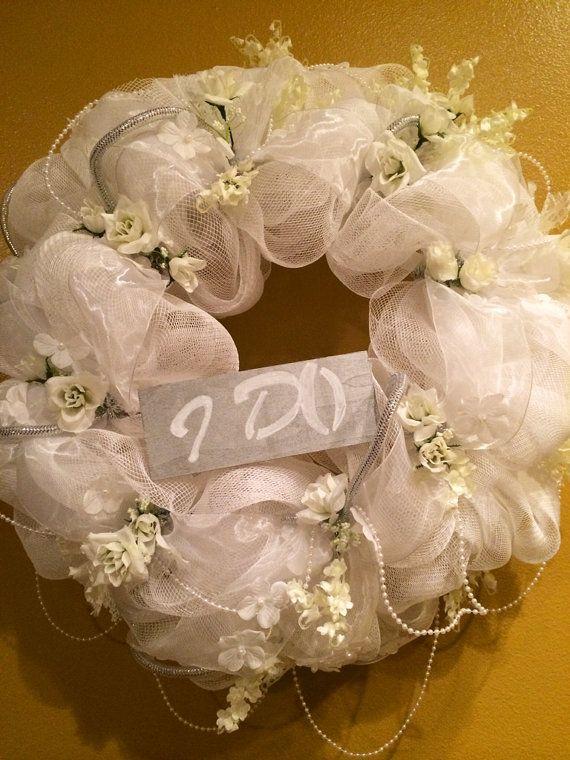 Deluxe Wedding Wreath, Wedding Gift, Bridal Shower Decor on Etsy, $139.99