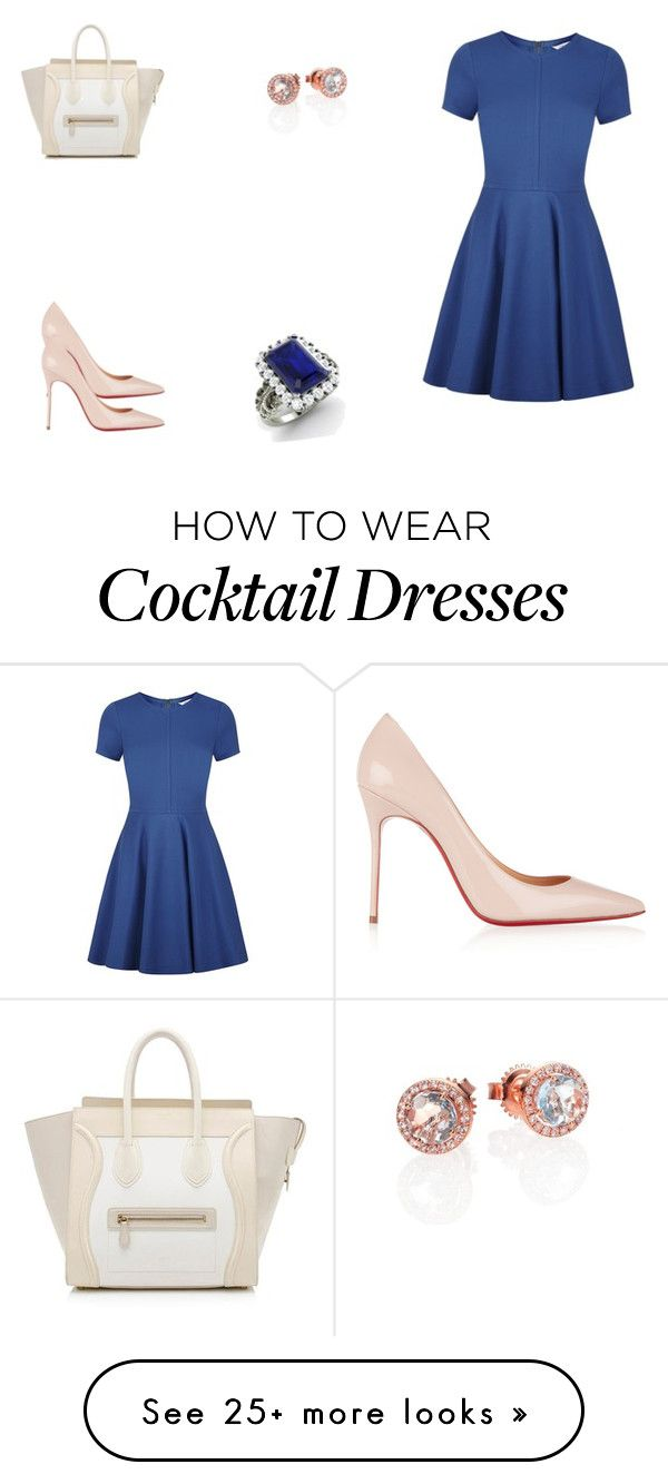 """""""73 outfit"""" by julieannbb13 on Polyvore featuring Diane Von Furstenberg, Christian Louboutin, CÉLINE, Suzanne Kalan and Diamondere"""