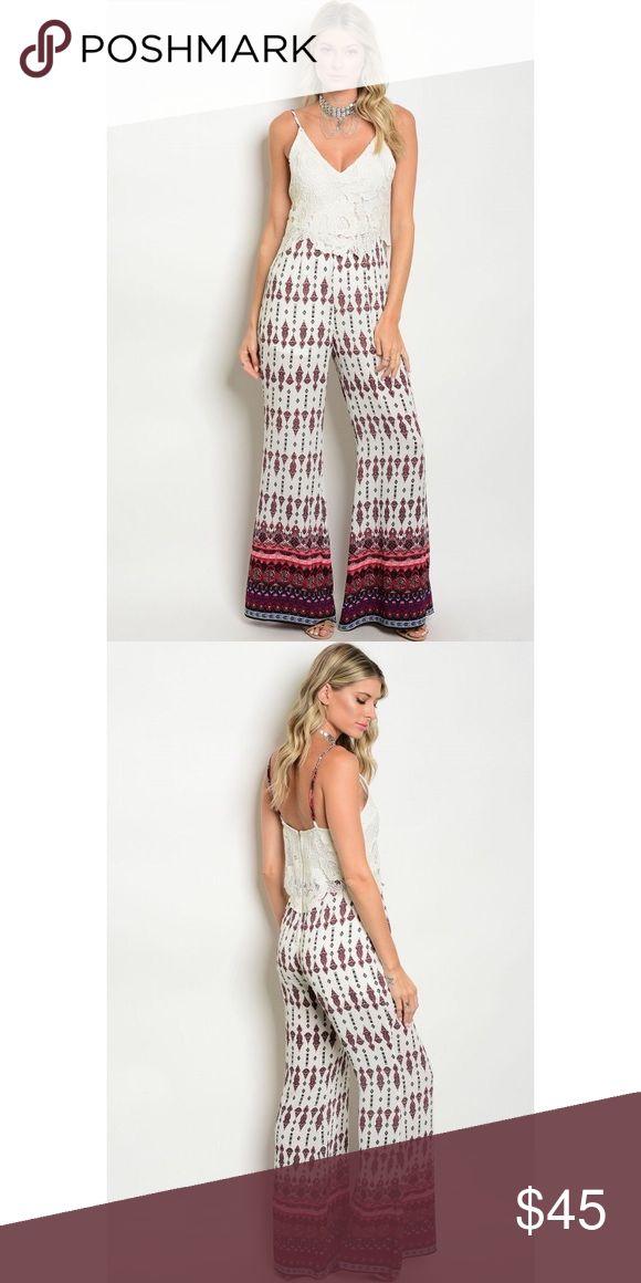 "Aztec palace jumpsuit boutique Presale Aztec jumpsuit  Fabric Content: 98% POLYESTER 2% SPANDEX Small: L: 59"" B: 28"" W: 28"" I.S.: 33"" New No Brand Lulu's Pants Jumpsuits & Rompers"